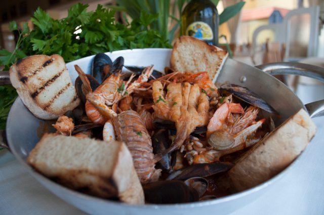 Menu di pesce € 32,00